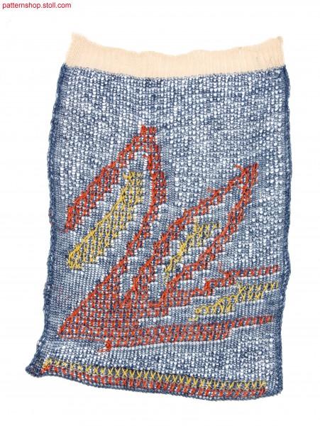 Swatch in 1x1 jersey crepe structure / Musterausschnitt in1x1 Rechts-Links Krepp-Struktur