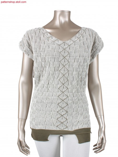 Fully Fashion Pullover knitted in one piece / In einem Teil gestrickter Fully Fashion Pullover