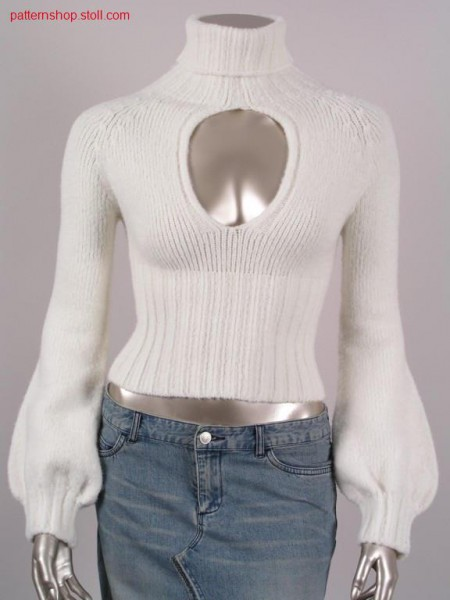 Jersey raglan pullover with 2x2 rib cuff / Rechts-Links Raglanpullover mit 2x2 Rippe Leibbund