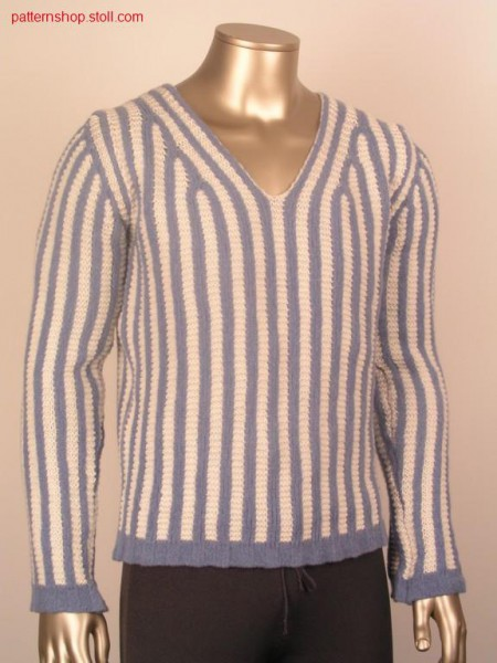 FF-pullover in floatjacquard with LL-structure / FF-Pullover in Flottjacquard mit LL-Struktur