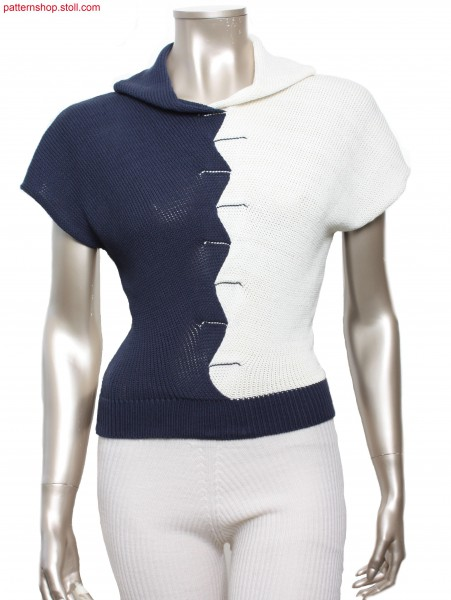 Fully Fashion jersey top with drop shoulder / Fully Fashion Rechts-Links Top mit
