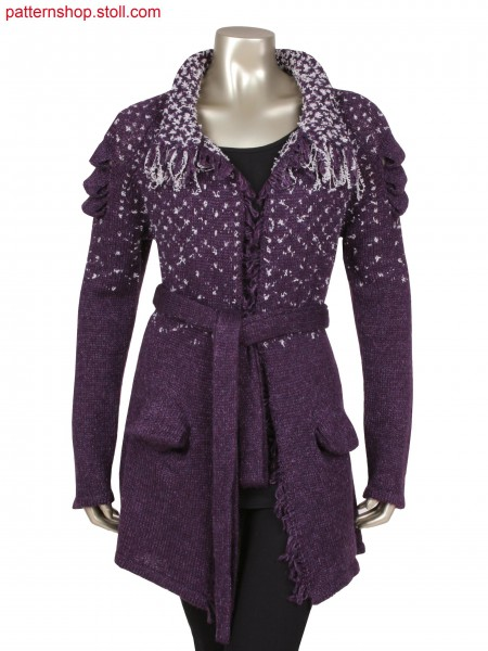 Fully Fashion cardigan with integrated pockets and tuck structure, Stoll-applications&regfor sleeves and pockets