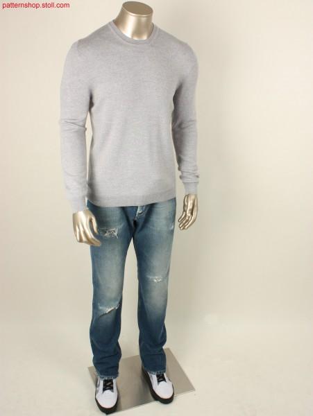 Jersey pullover with French shoulder / Rechts-Links Pullover mit französischer Schulter