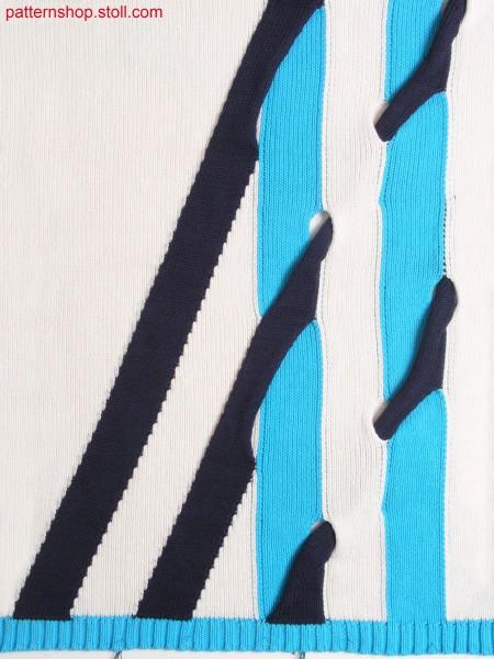 Intarsia pattern in 1x1 technique / Intarsiamuster in 1x1 Technik