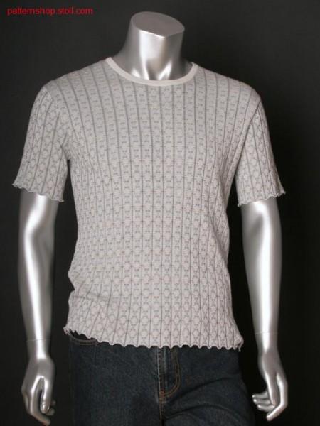 Fully fashion short-sleeved rib pullover / Fully Fashion Kurzarm-Ripppullover