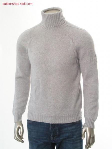Raglan pullover with jersey structure and saddle shoulder / Raglanpullover mit Rechts-Links Struktur und Sattelschulter