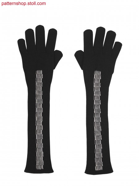 Stoll-knit and wear&reg gloves, 2 colour float jacquard asintarsia