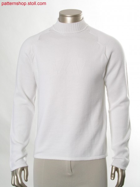Pullover with jersey structure / Pullover mit Rechts-Links Struktur