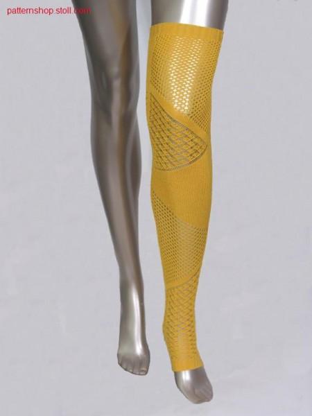 Leg gauntlets with pointelle structure / Beinstulpen mit Petinetstruktur