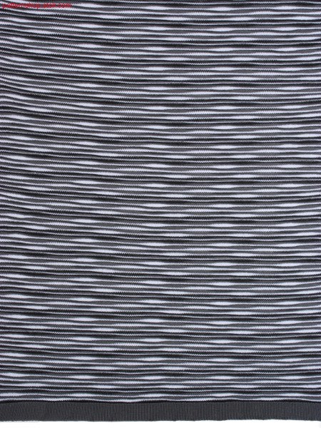 3-colour striped structured jersey fabric / 3-farbig geringeltes, strukturiertes Rechts-Links Gestrick