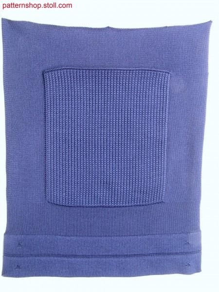 Swatch with patch pocket and drawcord / Musterausschnitt mit aufgesetzter Tasche und Tunnelzug