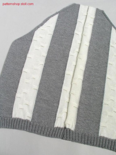 Parts for FF-intarsia cardigan with wave structure / Teile f