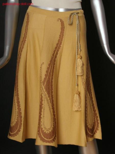 Jersey swing skirt / Rechts-Links Swingrock