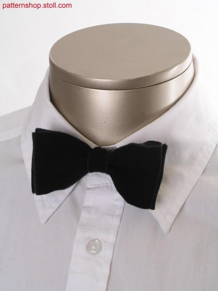 Fully Fashion bow tie in cross tubular jacquard / Fully Fashion Fliege in Kreuzschlauch-Jacquard