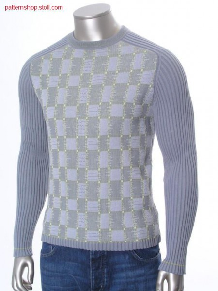 FF-jacquard struktur pullover with saddle shoulder / FF-Jacquardstruktur Pullover mit Sattelschulter