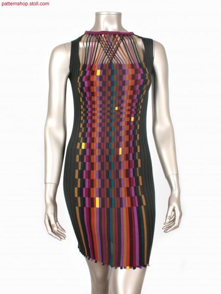 Intarsia rib dress with 29 (31) yarn carriers / Intarsia Kleid mit Rippen mit 29 (31) Fadenf