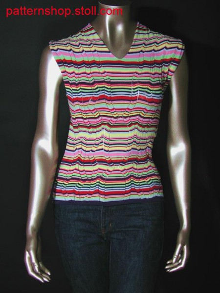 Multicolour striped Fully Fashion front part / Mehrfarbig, geringeltes Fully Fashion Vorderteil