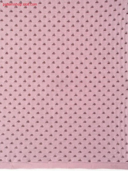 2-colour tubular knitted fabric with floats / 2-farbiges Schlauchgestrick mit Flottungen