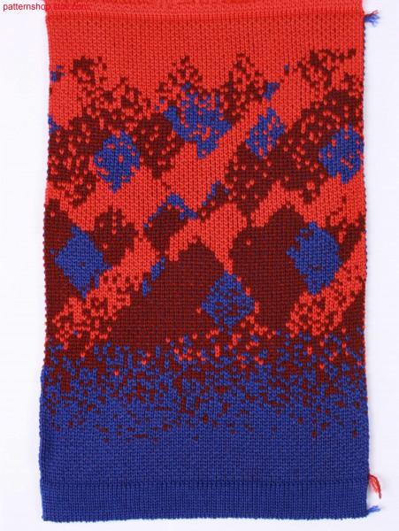 Swatch in 3-colour jacquard / Musterabschnitt in 3-farbigem Jacquard