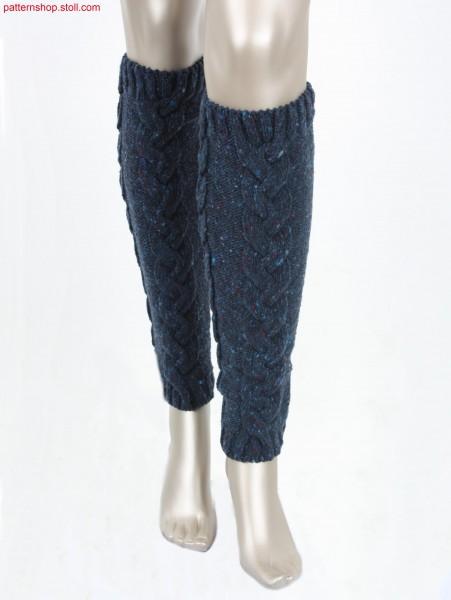 Leg warmers with 3x6 cable braid / Beinstulpen mit 3x6 Flechtzopf