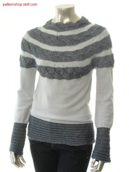 Fair isle pullover, across to stitch direction / Fair Isle Pullover, quer zur Strickrichtung liegend