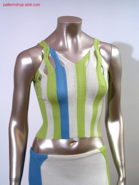 FF-rib top with intarsia tapes / FF-Ripp Top mit Intarsiab
