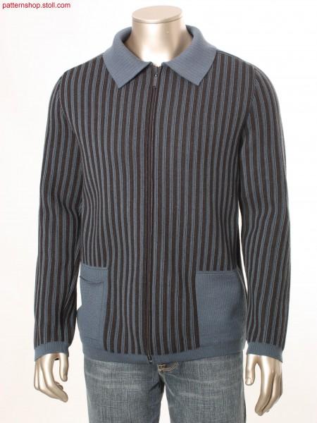 Vertical striped Fully Fashion cardigan / Gestreifte FullyFashion Strickjacke