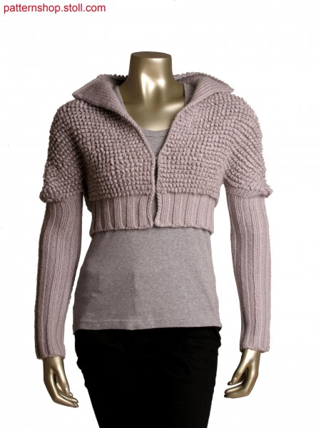Stoll-knit and wear&reg jacket in plush optic