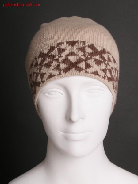 Fully Fashion jersey cap with cross tubular jacquard / FullyFashion Rechts-Links M