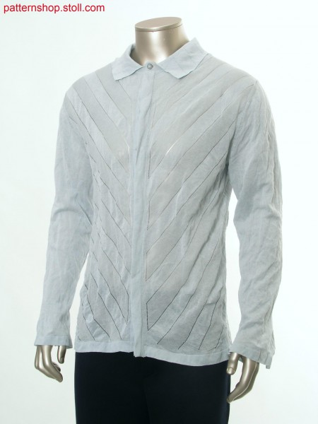 Fully Fashion shirt with pointelle structure / Fully Fashion Hemd mit Petinetstruktur