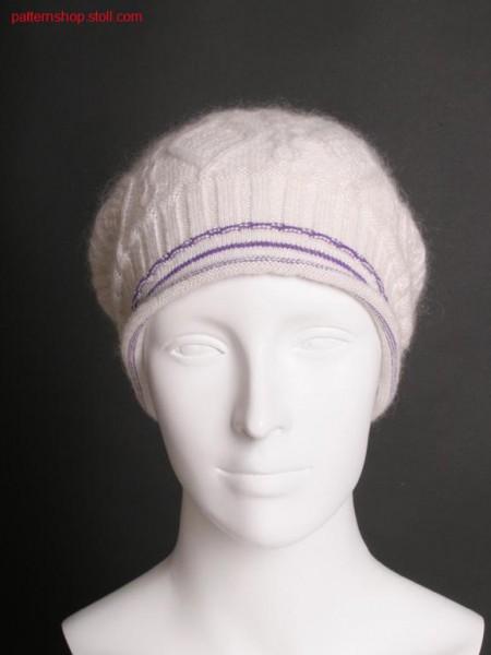 Fully Fashion cap with aran pattern / Fully Fashion M