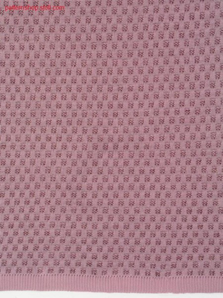 2-colour tubular knitted fabric with grain of rice structure/ 2-farbiges Schlauchgestrick mit Reiskornstruktur