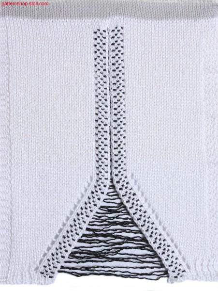 Two-piece intarsia swatch / Zweiteiliger Intarsia-Musterausschnitt