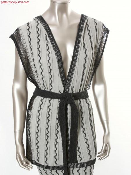 Fully Fashion hooded waistcoat in rib structure / Fully Fashion Kapuzenweste in Rippstruktur