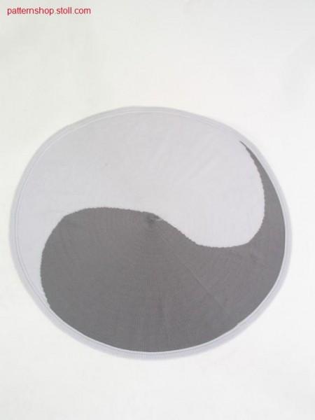 Jersey pillowcase with Yin-Yang motive / Rechts-Links Kissenbezug mit Yin-Yang Motiv