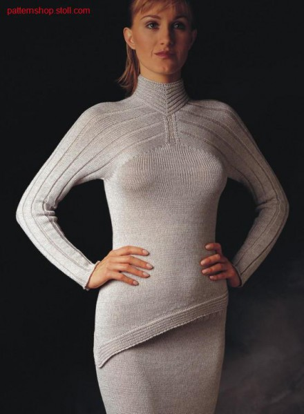 Pullover with hem in gore Technique