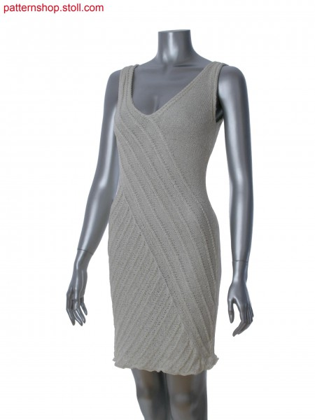 Fully Fashion sleeveless dress in 1x1 technique with aran structure
