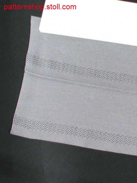 Double jersey polo collar with transfer structure / Rechts-Rechts Polo-Kragen mit Umh
