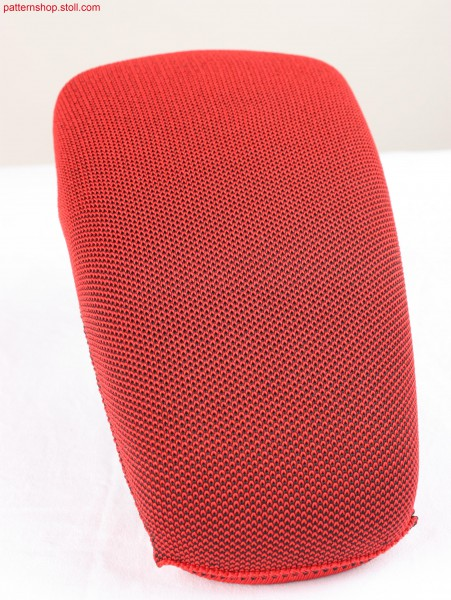 Arm rest cover in 2-colour jersey piqu