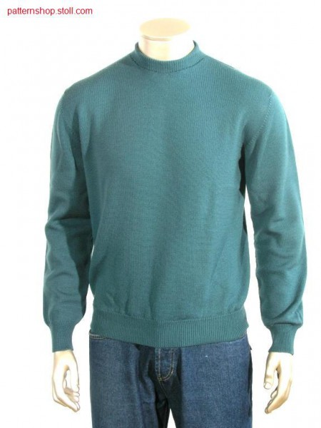 Jersey pullover with French shoulder / RL-Pullover mit Franz