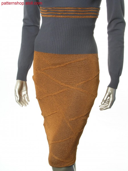 Skirt in layering-look with wave motif / Rock im Lagen-Look mit Wellenmotiv