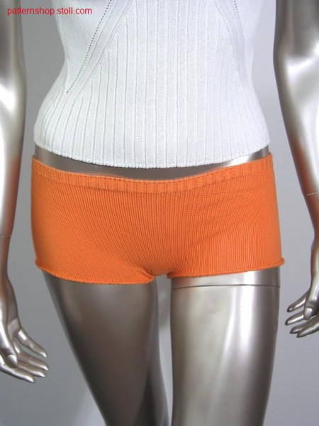 2 - Colour hot pants in jersey / 2 - Farbige Damenshorts in R-L.