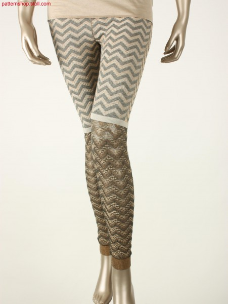 Fully Fashion leggings with plated zigzag pattern / Fully Fashion Leggings mit plattiertem Zickzack-Muster