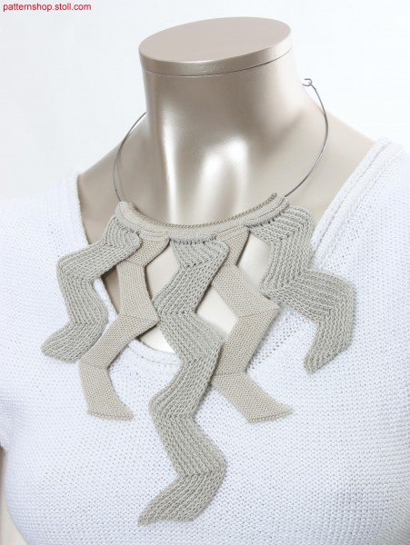 Necklace made of intarsia tapes with herringbone design / Halsschmuck, gemacht aus Intarsia B