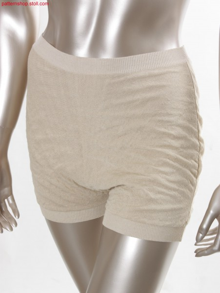 Fully Fashion shorts in 2-colour tubular fabric / Kurze Fully Fashion Hose in 2-farbigem Schlauchgestrick