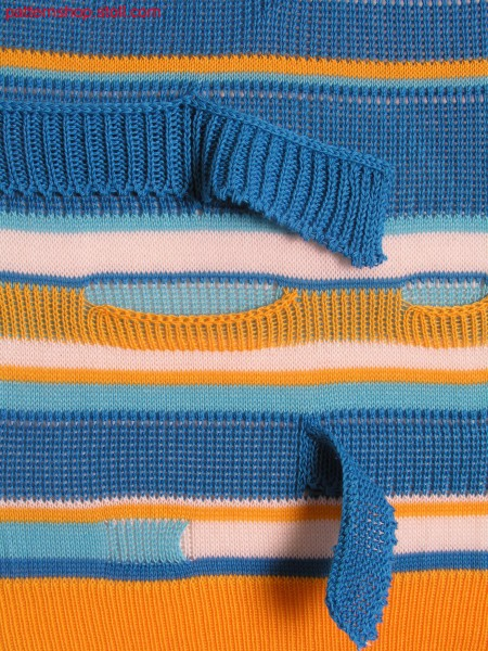 Swatch with colour and structure hoops / Musterausschnitt mit Farb- und Strukturringeln