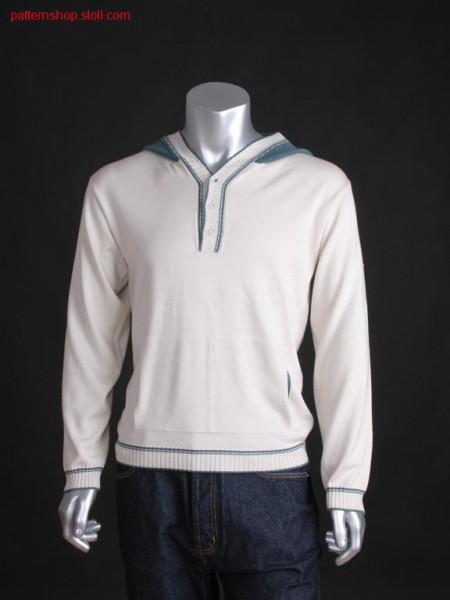 FF-jersey hooded pullover with muff pocket / FF-Rechts-LinksKapuzenpullover mit Mufftasche