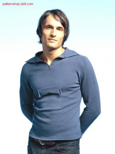 Pullover with patch chest pocket with flap / Pullover mit aufgesetzter Brusttasche mit Patte