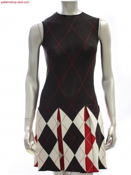 Fully Fashion dress with argyle intarsia pattern / Fully Fashion Kleid mit Argyle-Intarsiamuster