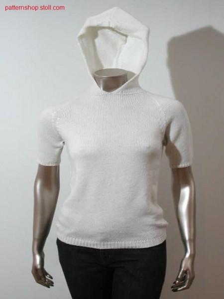 Shortsleeve-hood-pullover / Kurzarmkapuzenpullover